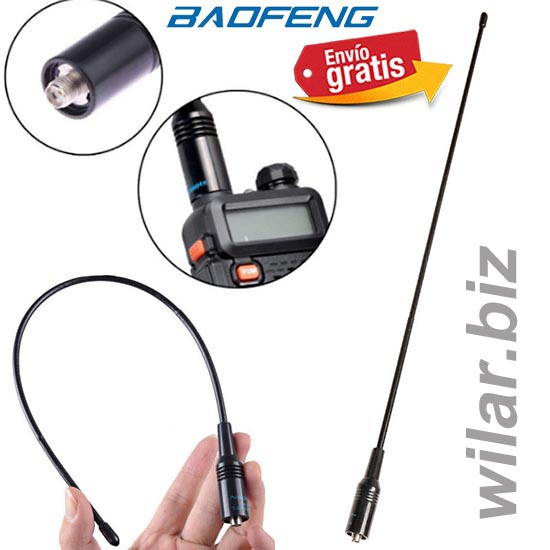 ANTENA NAGOYA FLEXIBLE PARA WALKIE TALKIE BAOFENG