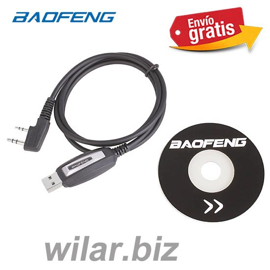 CABLE USB PARA PROGRAMAR WALKIE BAOFENG UV-5R