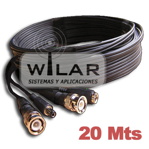 CABLE ALIMENTACION Y VIDEO 20 METROS