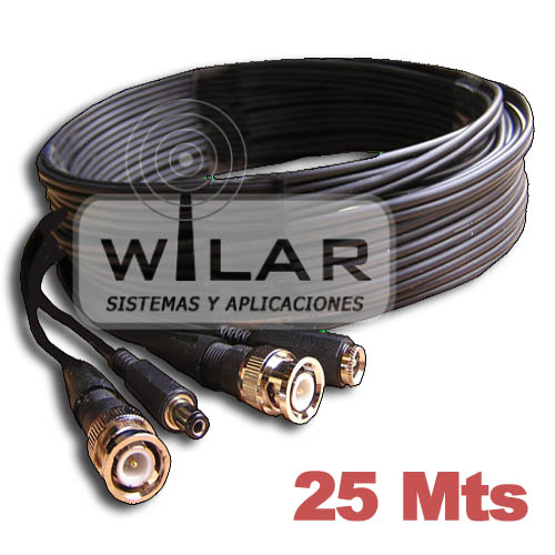 CABLE ALIMENTACION Y VIDEO 25 METROS