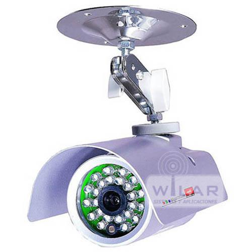 Canmara vigilancia color aluminio exterior wilar seguridad for Camara vigilancia exterior