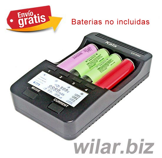 .CARGADOR BATERIAS LITIO DISPLAY LCD ILUMINADO LII500