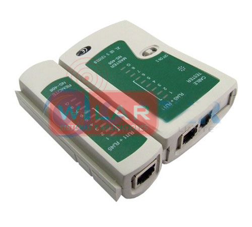 MEDIDOR TESTER CABLE DE RED LAN RJ45 CAT5