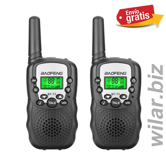 .WALKIE TALKIE BAOFENG COLOR NEGRO PAREJA