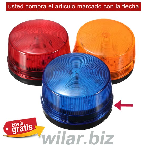 PILOTO FLASH PARA ALARMA COLOR AZUL