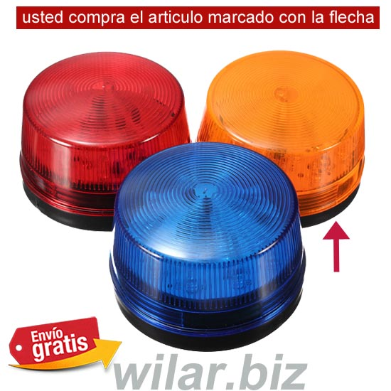 PILOTO FLASH PARA ALARMA COLOR NARANJA