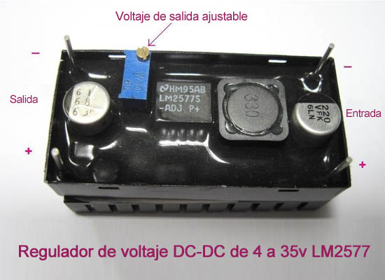 REGULADOR DC 4 a 35 Vcc