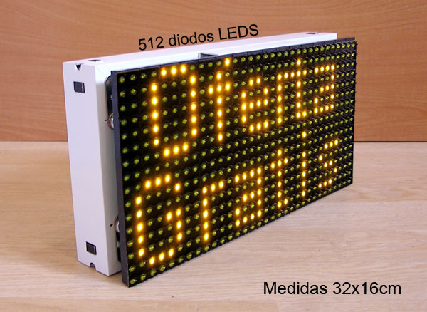 .CARTEL LETRERO ROTULO LED PROGRAMABLE CON 512 DIODOS LEDS